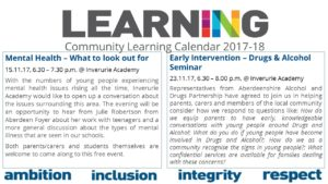Start Conversations Early About Drugs >> Inverurie Academy